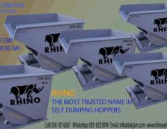 RHINO SELF DUMPING HOPPERS ARE THE INDUSTRY LEADER SELF DUMPING HOPPERS IN DOHA, QATAR. RHINO