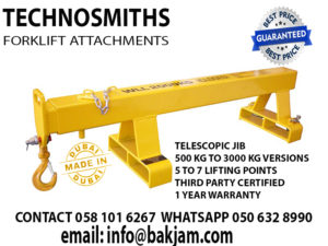 jibs and booms forklift attachment