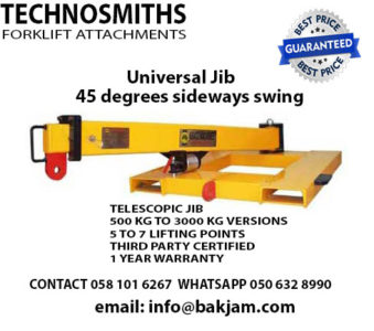 WE MANUFACTURE FORKLIFT ATTACHMENTS, FORKLIFT TELESCOPIC JIBS AND BOOMS